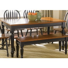 Low Country Black Rectangular Leg Table - Liberty Furniture