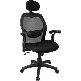 High Back Super Office Chair With Black Fabric Seat (Min Order Qty Required)