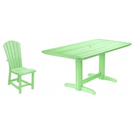 "Generations Lime Green 36"" Double Pedestal Dining Room Set"