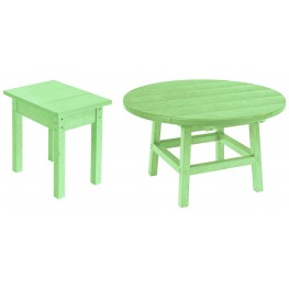 "Generations Lime Green 32"" Round Occasional Table Set"