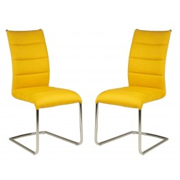 Regis Lido Yellow Dining Chair Set of 2
