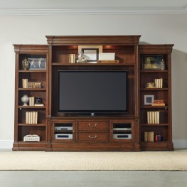 Clermont Brown Entertainment Wall Unit