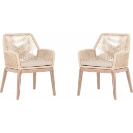 Loom Sand Arm Chair Set of 2