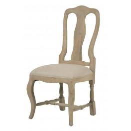 Louis XV Smoke Gray Dining Chair Set of 2