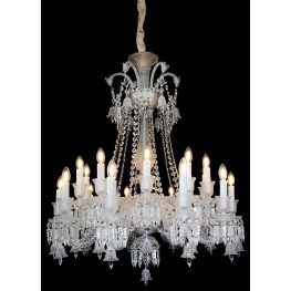 Treviso Clear Glass Chrome 20 Light Chandelier