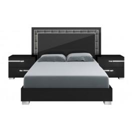 Vivente Black High Gloss Lustro Cal. King Platform Bed
