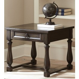 Leona Charcoal End Table