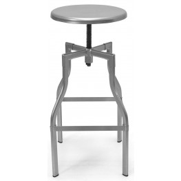 Euro Home Hugo Silver Drafting Stool