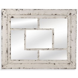 Harper Rustic White Wall Mirror