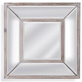 Pompano Scrubbed Pine Square Wall Mirror