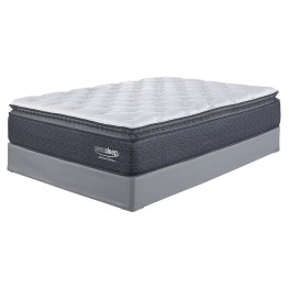 White Cal. King Pillowtop Mattress With Foundation