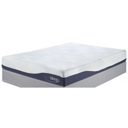 9 Inch Gel Memory Foam White King Mattress with Power Adjustable Foundation