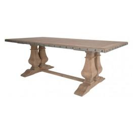 Maddox Antique Pine Rectangular Trestle Dining Table