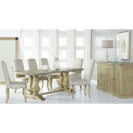 Maddox Antique Pine Rectangular Trestle Dining Room Set