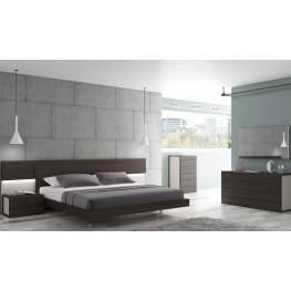 Maia Light Grey Lacquer Platform Bedroom Set