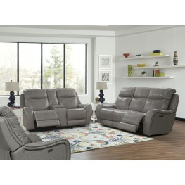 Mammoth Grey Dual Power Reclining Living Room Set