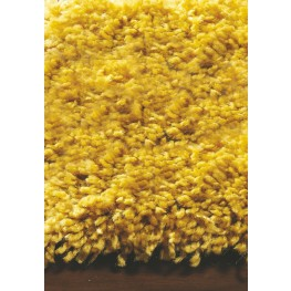 "Maroq Solid Yellow Soft Touch 94"" Rug"
