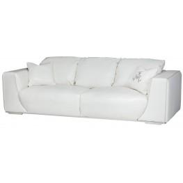 Mia Bella White Leather Standard Sofa