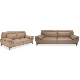 Mia Bella Taupe Living Room Set