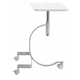 Media White Mobile Notebook Desk