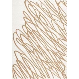 Mercury White/Gold String Medium Rug
