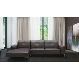 Metro Brown Leather LAF Sectional