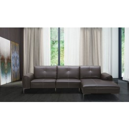 Metro Brown Leather RAF Sectional