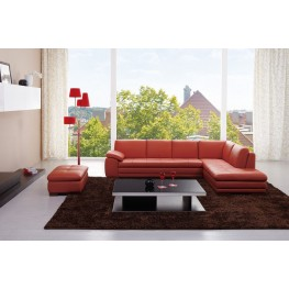 Miami Pumpkin Italian Leather RAF Sectional