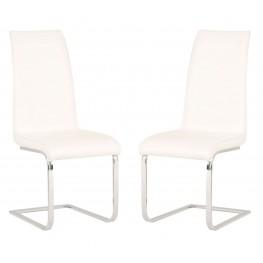Regis Milo White Dining Chair Set of 2