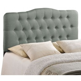 Annabel Gray Full Fabric Headboard