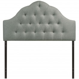 Sovereign Gray Queen Fabric Headboard