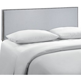 Region Gray Queen Nailhead Upholstered Headboard
