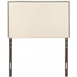 Region Ivory Twin Nailhead Upholstered Headboard