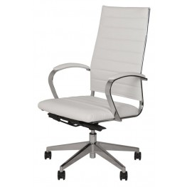 Sedia Moda White High Back Office Chair