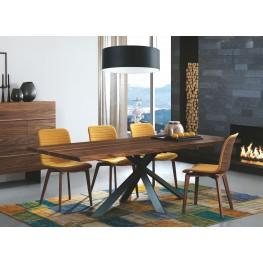 "Montana Solid Walnut 79"" Rectangular Dining Room Set"