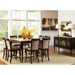 Marseille Merlot Cherry Square Counter Height Dining Room Set