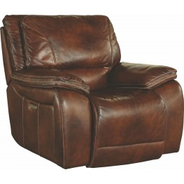 Vail Burnt Sienna Leather Power Recliner