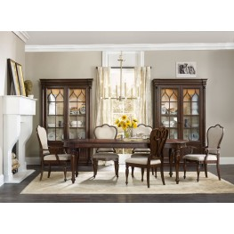 Leesburg Brown Extendable Dining Room Set