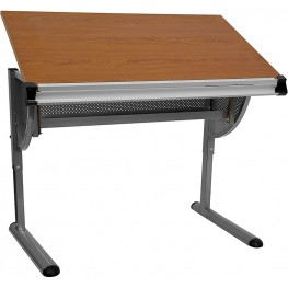 Adjustable Pewter Drawing and Drafting Table