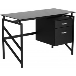 Desk With Two Drawer Pedestal (Min Order Qty Required)