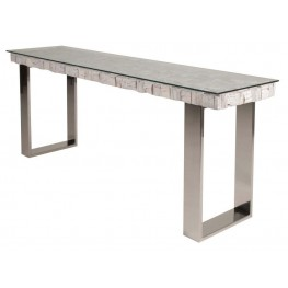 Taj Native White Wash Console Table