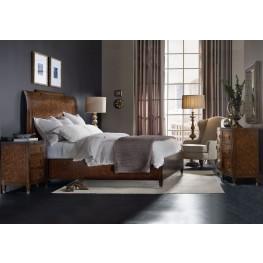 Skyline Brown Platform Sleigh Bedroom Set