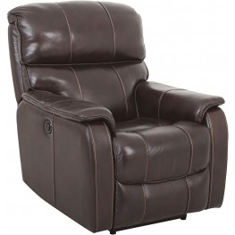 Walnut Leather Power Recliner