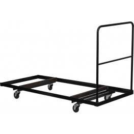 Black Steel Folding Table Dolly for Rectangular Folding Tables