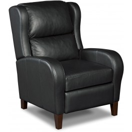 Camber Black Leather Recliner