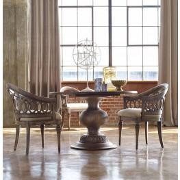 """Melange Brown Cambria 48"""" Dining Room Set"""
