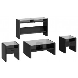 New York Skyline Modern Mocha 4-in-1 Occasional Table Set