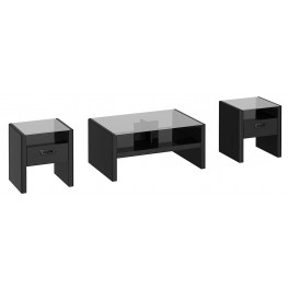 New York Skyline Modern Mocha NYS 3-in-1 Occasional Table Set