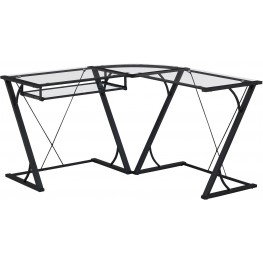Bell'O Black Snyder L-Shaped Computer Desk
