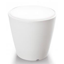 Omnia Multipurpose White Cushion Top Pot/Vase/Seat/Table